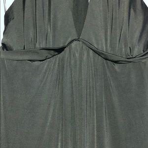 BCBGMaxAzria Dresses - BCBG MAXAZRIA XS Dark Green Halter Maxi Dress